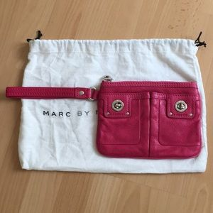 Marc by Marc Jacobs Pink Leather Wristlet Clutch